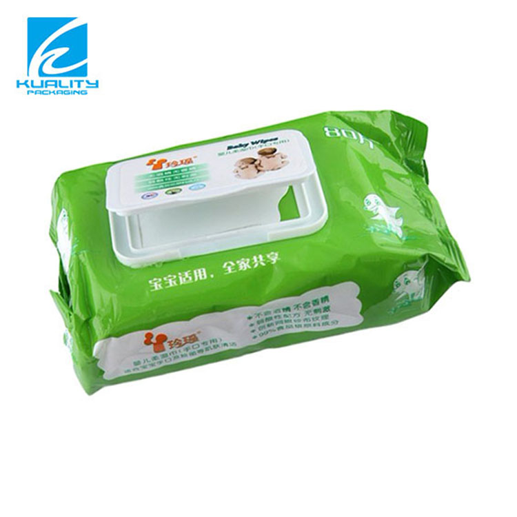 Custom printing plastic laminated wet wipes packaging materials