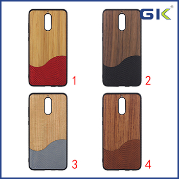 [GK] Business Style With Wood and PU Skin Hybrid Cover For HUAWEI Mate 9 Pro Celulares Case