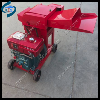 Home use diesel engine stalk chaff cutter capacity 400kg per hour