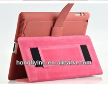 2014 hot design leather case with belt for ipad 5 /4/3/2/mini