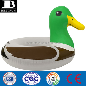 "High Durable Vinyl Mallard Duck 50"" Pool Float large inflatable big raft lounge top summer kids inflatable water pool beach toy"