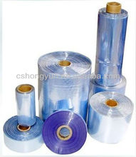 Self-adhesive high tensile strength pvc sleeve/tubular heat shrink packaging film with large size