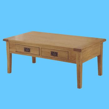 316 Range Solid Oak 2 Drawer Coffee Trunk Wood Tables