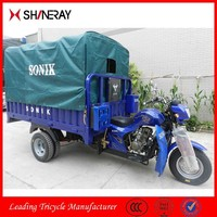 2015 New Product Made in China Cargo Use Three Wheel Motorcycle Tricycle With Water Roof