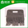 2015 New European Tassel Lady Leather Handbag Female Bag Made China