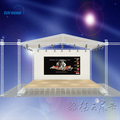 Aluminum Truss roof wooden stage with lifting tower truss stage