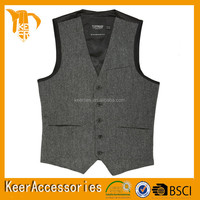 Microfiber Woven Fashion Man Waistcoat/Vest OEM available