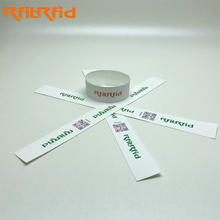 HF UHF printable paper barcode rfid disposable wristband/bracelet for events and festivals