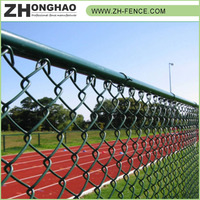 Eco-friendly Metal Frame Material High Security Cheap black chain link fence