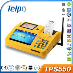 Programmable TPS550 top 10 magnetic card android finger printer pos terminal