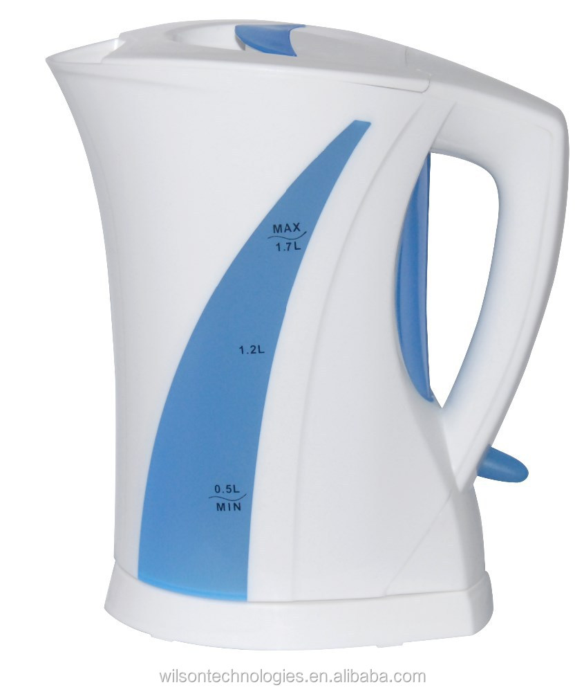 home appliance 1.7L immersed cordless plastic electric kettle