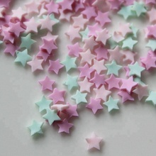 Cute Hot Selling Clay Sprinkles Colorful Five Star Bow Candy Sprinkles for Crafts Making, DIY