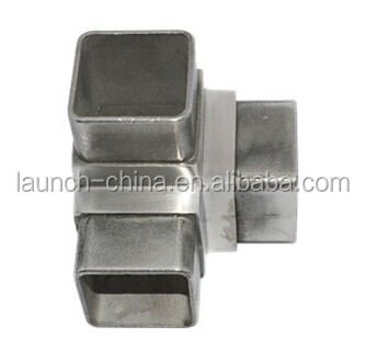 stainless steel 3 way square tube connectors 25mm