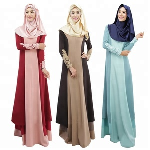 Wholesale New model abaya in dubai Big size women's gown Malaysia embroidered dress abaya muslim dresses new design Yiwu Xi Meng