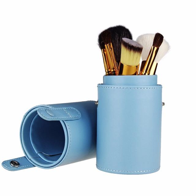7PCS goat hair Cosmetics Makeup Brush Set Private Label Professional Brush Sets with box