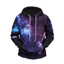 Space Style XXL Full Printing Sport <strong>Mens</strong> Breathable Long Sweatshirt With Hood