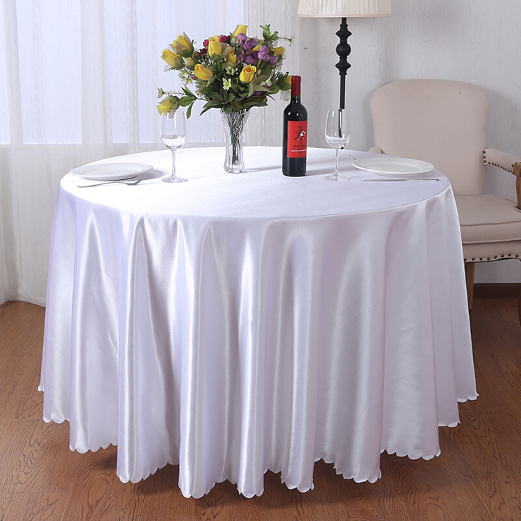White Color Table Linens Fabric Wedding Tablecloths Polyester 108 Inch  Round Tablecloth   Buy 108 Inch Round Tablecloth,Round Tablecloth,Wedding  ...