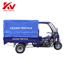 Good Looking Petrol Power Enclosed Used Passenger Customer Tricycle For Adults