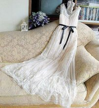 2012elegant fairy white lace wedding dress evening dress