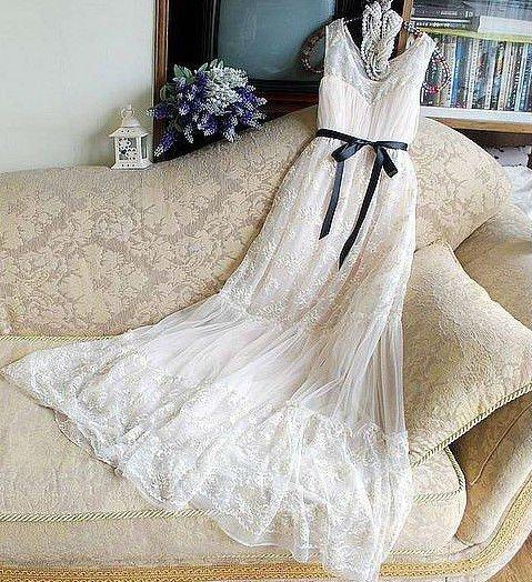 2012elegant fairy white lace wedding dress evening dress
