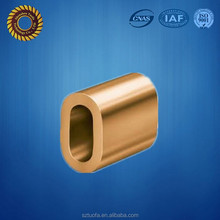 brass cnc machined crimp sleeve,cnc machining brass parts,custom drawing brass machined parts