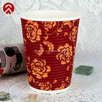 8,12,16,20oz hot ripple paper coffee cup