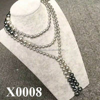 115cm Extra Long Sweater Chain Color Mix Multi Functional Shell Pearl Necklace