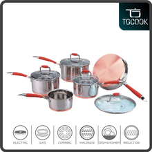 Health green kitchen appliance SGS Certification cooper bottom #201 stainless steel cookware set