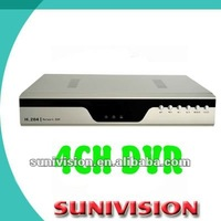 4ch mpeg4 network dvr Support D1,HD1,CIF recording resolution