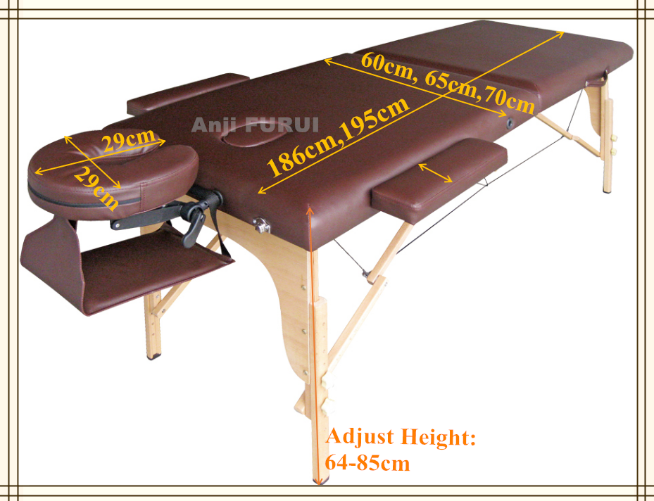 wooden portable massage table with cheap price