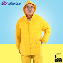 Cheap adult plastic industrial long raincoat prices