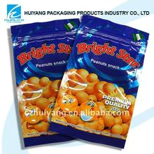 FDA Certified!Laminated aluminum foil ziplock bag for peanut packaging