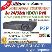 Hikvision HD TVI CAMERA dahua 32 channel full hd 720p realtime recording hdcvi dvr 2u network ahd dvr HCVR5824/5832S in Turkey