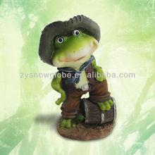 Outdoor garden frog decor for garden decking