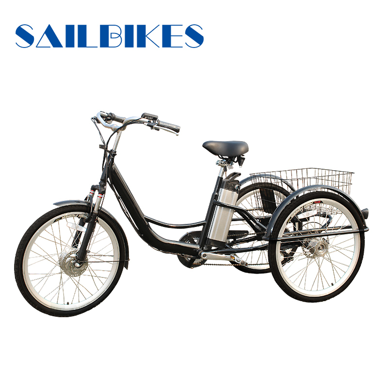 Three wheels cargo use foldable adult tricycle