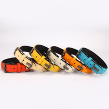 High Quality Custom Logo Padded Leather Dog Collar Pet Accessories
