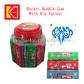 Rocket Bubble gum with big tattoo
