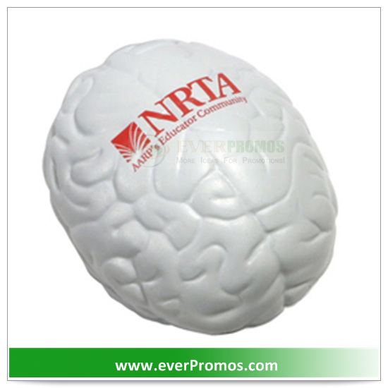 PU Material Unique Design Brain Stress Ball For Promotion