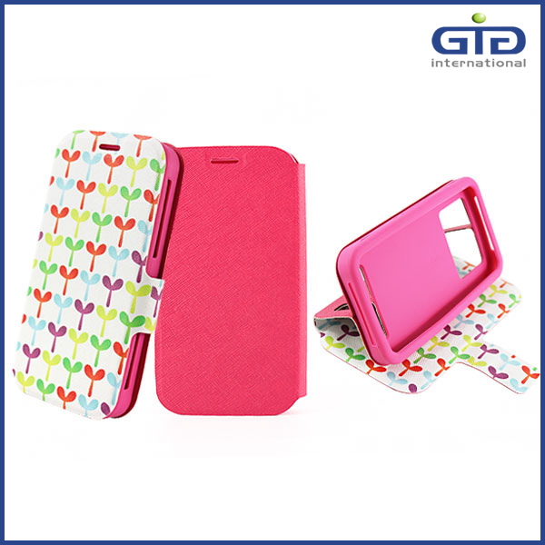 Hot Selling Cell Phone PU Universal Double-side Case Cover