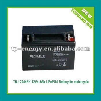 12V lithium iron phosphate battery for motorcycle