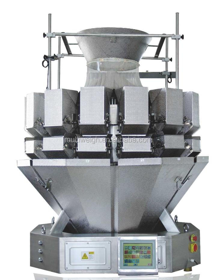For salad and vegetables packing -PLC 14 head multihead weigher (5.0L hopper)