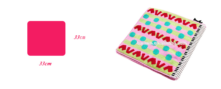 Promotional mini 100% cotton jacquard baby face towel