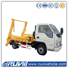 2016 hot sell Foton 8cbm swing arm garbage truck 2 tons mini roll off garbage truck new hook arm garbage truck for sale