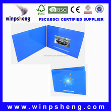 2014 new design invitation lcd video greeting card