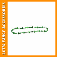 PGST0130 Plastic Bead Necklace HAPPY ST PATRICK S DAY for Party Decorate