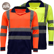 Hi Vis workwear fluorescent promotion long sleeve t shirt