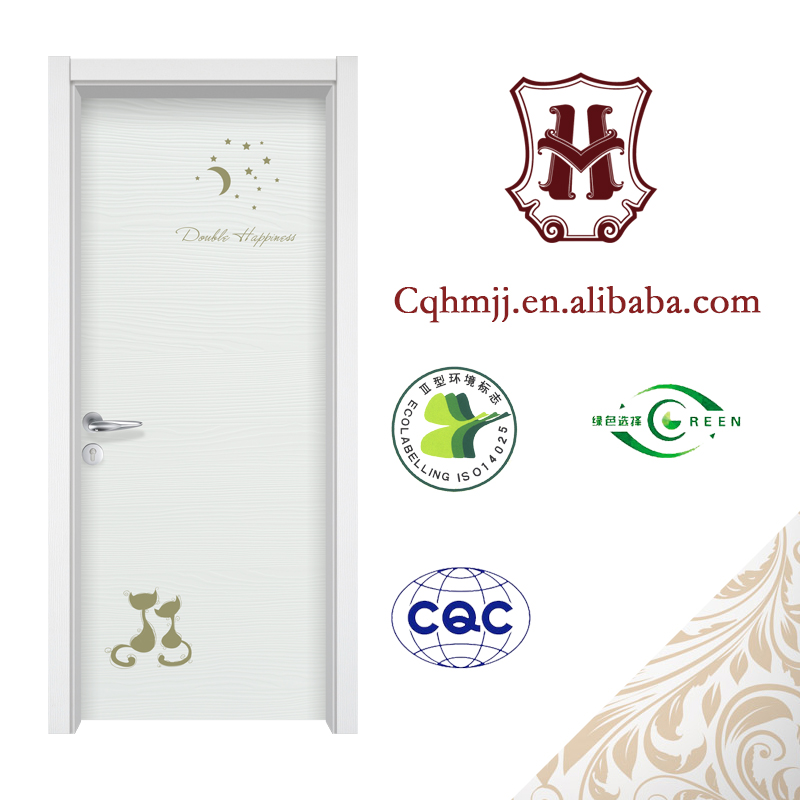 Interior doors for small spaces and lovely cartoon stickers