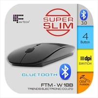 2.4ghz Cute Mini Super Flat Optical Wireless Computer Mouse FTM-W18B