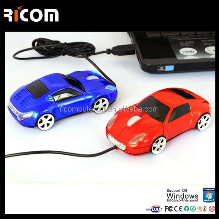 computer optical usb car mouse,sports car mouse,usb optical car mouse drivers from Shenzhen Ricom MO7003F