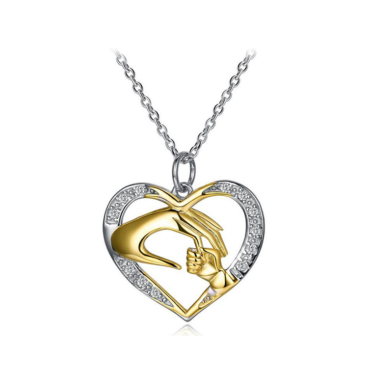 2018 Fashion 925 Sterling Silver Jewelry, Silver Chain Heart Pendant <strong>Necklace</strong>